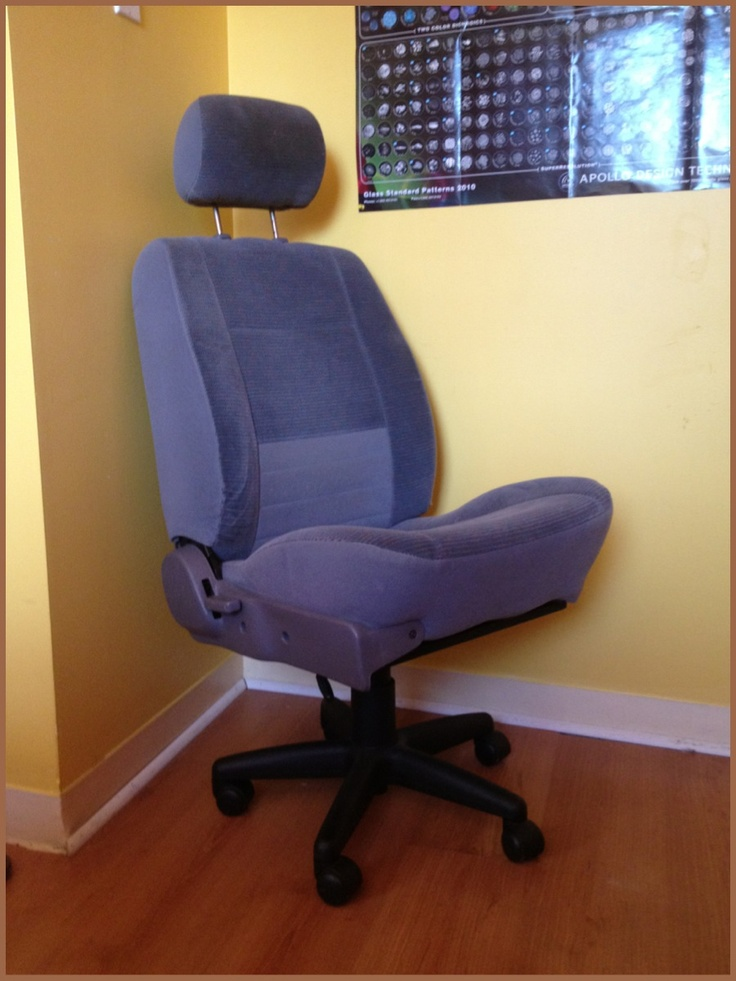 car seat computer chair we could find a junk yard front seat for cheap and