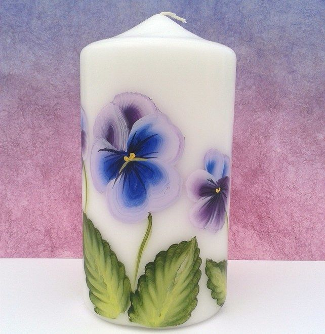 Pansy candle £10.00