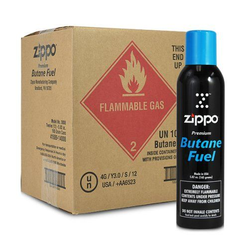 12 cans 1 case Zippo 582oz Premium Butane Fuel *** For more information, visit image link.