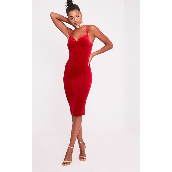 17 Best ideas about Red Midi Dress on Pinterest  Work dresses ...