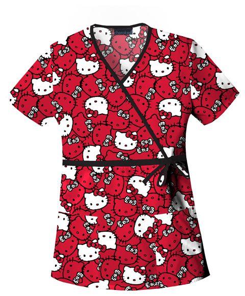 Love my Hello Kitty Nursing Scrubs for work!