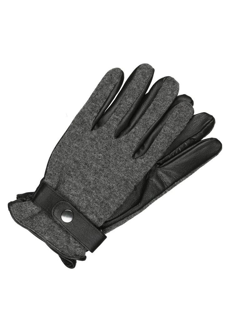 Bestill  KIOMI Hansker - black/grey melange for kr 299,00 (04.12.17) med gratis frakt på Zalando.no