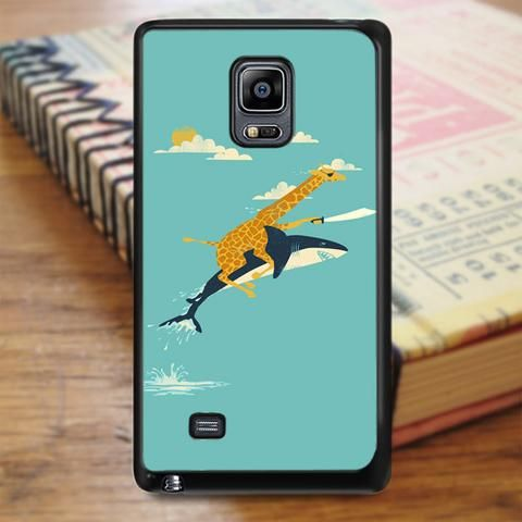 Giraffe Riding Shark Samsung Galaxy Note 5 Case