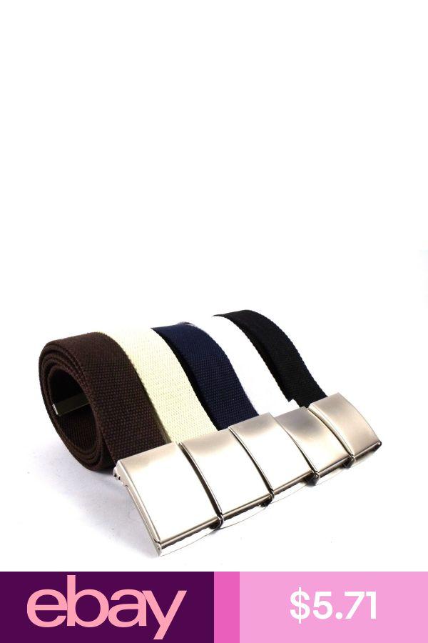 The Leather Emporium Mens Plain Webbing Canvas Belt 52Inch Blue