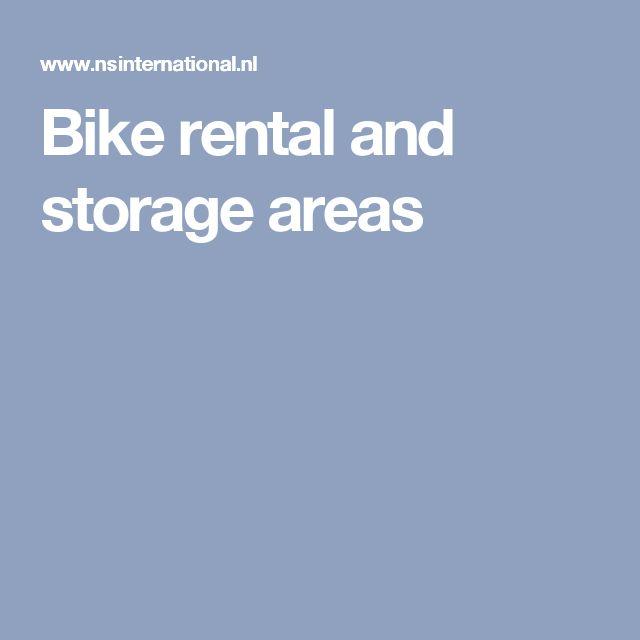 Bike rental and storage areas