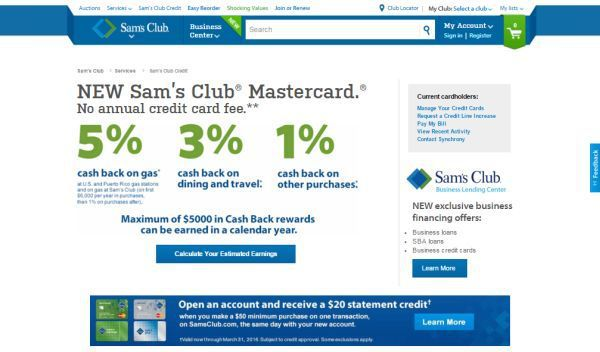 Sam's Club Credit Card: Memberships, Discount Offers