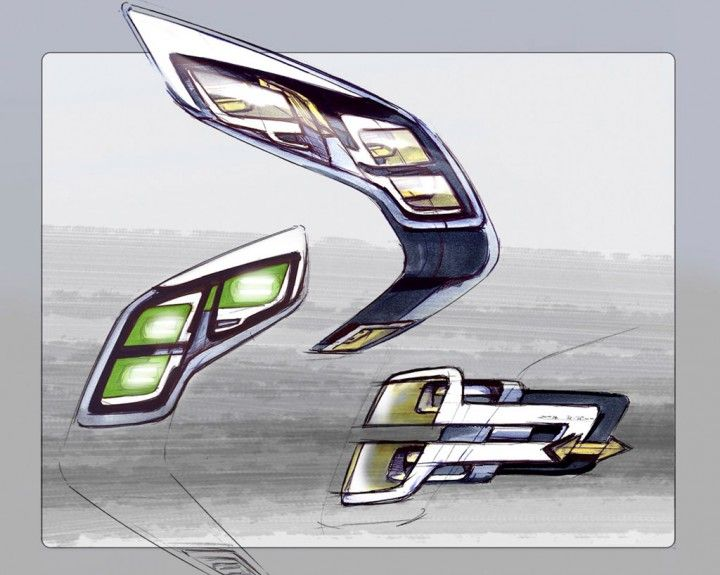opel flextreme headlight design