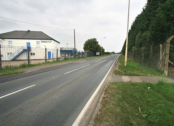 The site of the former Chatteris Station as of 2007. This now forms a bypass as part of the A141 to Huntingdon.