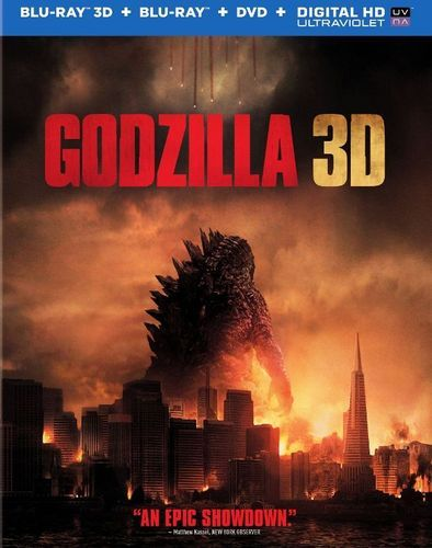 Godzilla 3D [Includes Digital Copy] [Ultraviolet] [3D] [Blu-ray/DVD] [Blu-ray/Blu-ray 3D/DVD] [2014]