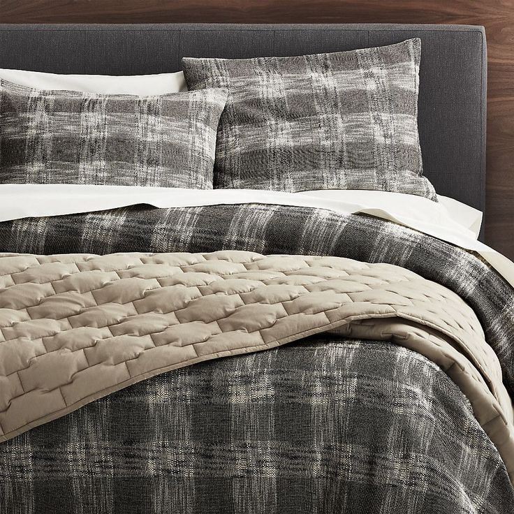 Shop Lindstrom Lattice Duvet Cover King. A loose, modern plaid makes the most of our Lindstrom bed linen collection's amazing texture. #ModernBedLinen