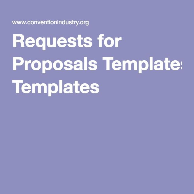 Requests for Proposals Templates