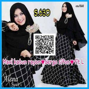 baju maxi katun rayon dewasa s630