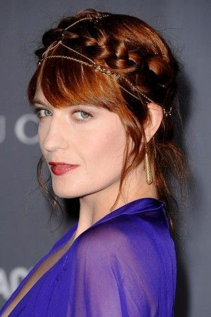 updo with hair chain - Google Search