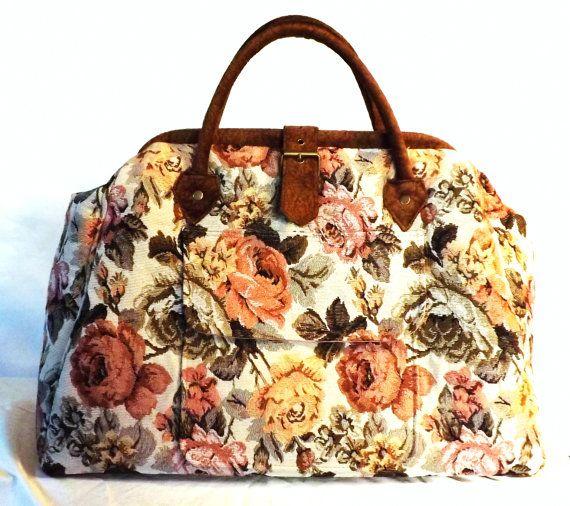 Mary Poppins Style Large Custom Carpet Bag on Etsy, $300.00