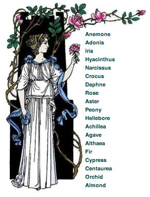Flowers in Greek Mythology back then were used for food and herbs