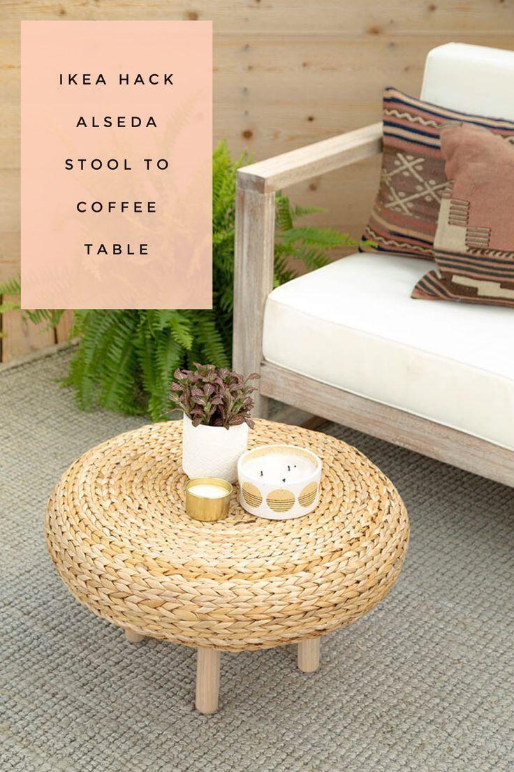 Ikea Hack Alseda Stool To Coffee Table Ikea Coffee Table Outdoor Coffee Tables Coffee Table Inspiration