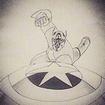 Captain America art...^^
