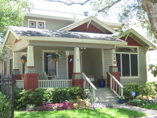 Craftsman Style Porch | Arts & Crafts/Craftsman Style / Bungalow Porch Garden
