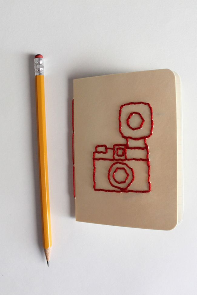 Make A Diana Camera Embroidered Notebook