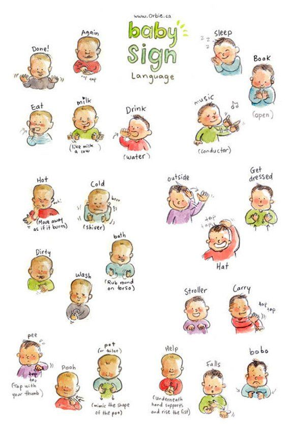 Lively image inside baby sign language printable