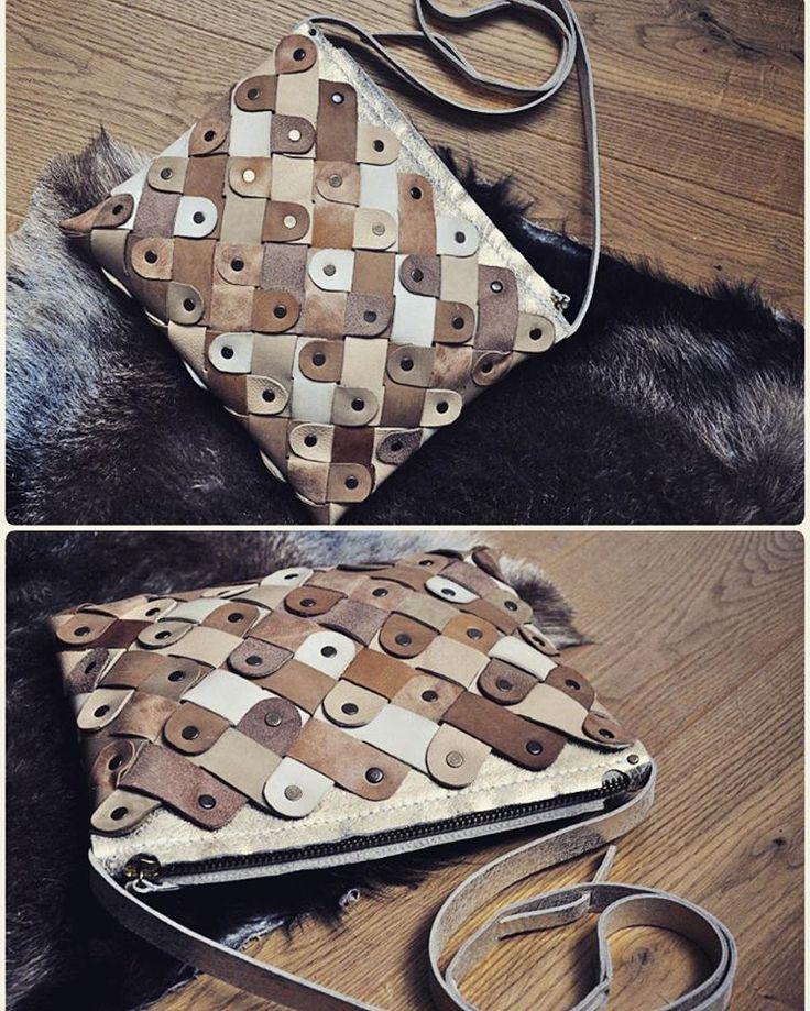 Small crossbody leather handmade bag by burtsevbags
