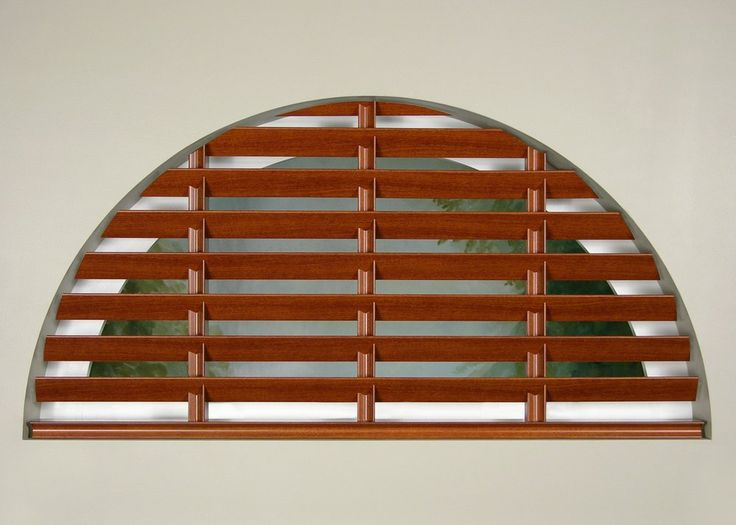 Hunter Douglas Wood Blinds for arched and special shaped windows ...