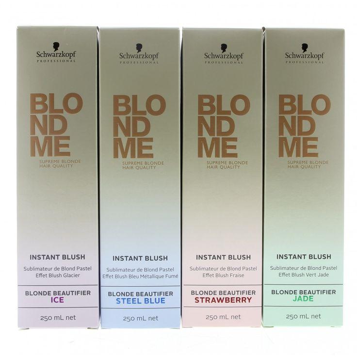 Schwarzkopf Blond Me Instant Blush Spray Blond Beautifier Steel Blue: post sea brassy neutralizer