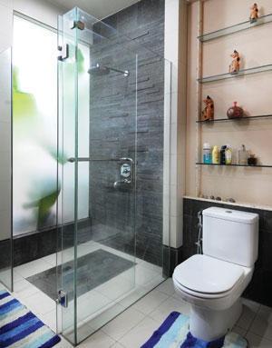 Bathroom Glass Transparent Partition