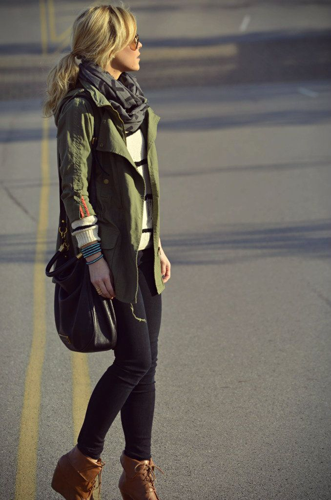 Willow & Clay Anorak and Marc by Marc Jacobs purse