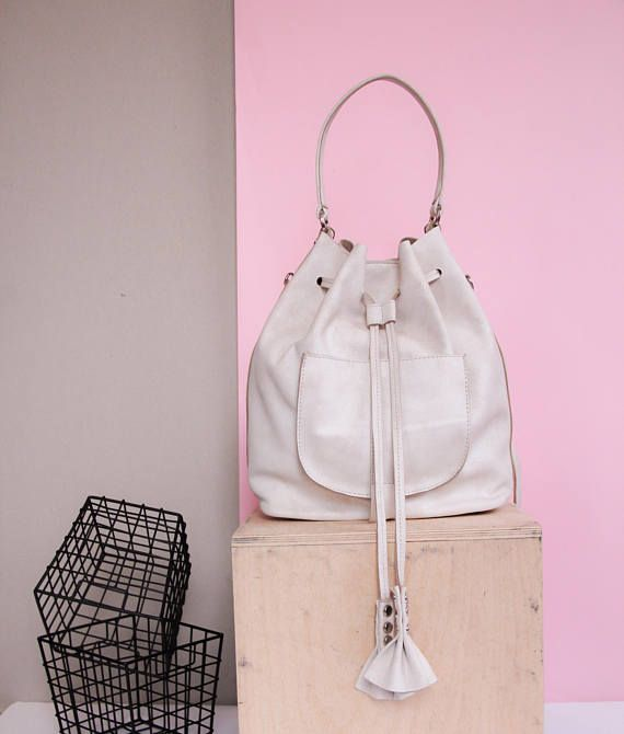leather bucket  bucket bag  leather bucket bag  backpack