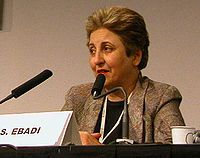 Shirin Ebadi is an Iranian lawyer, a former judge and human rights activist and founder of Defenders of Human Rights Center in Iran.