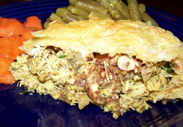 Bisteeya or Moroccan Chicken Pie