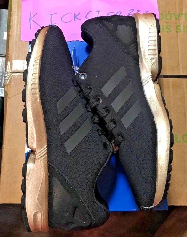 promo code 55b04 0442e ... usa nike foamposite mens womens sneakers annuzine adidas originals zx  flux w core black copper gold