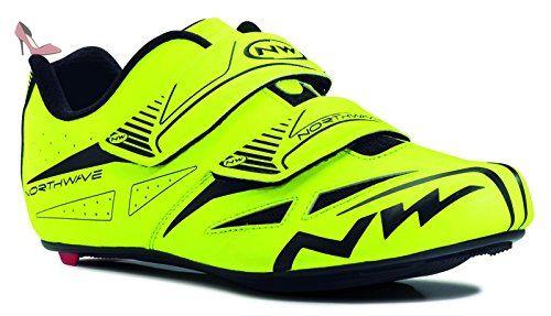 NORTHWAVE Chaussures velo route homme JET EVO jaune fluorescent ...