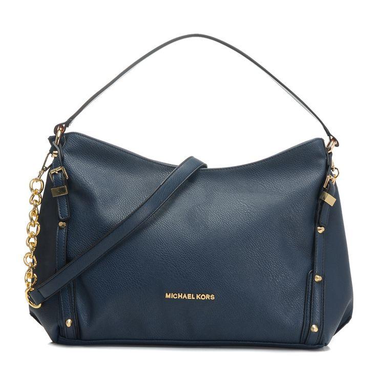 37f00859fd4d Wholesale Michael Kors handbags outlet Online for sale - Off Michael Kors  Leigh Stud Large Navy ...