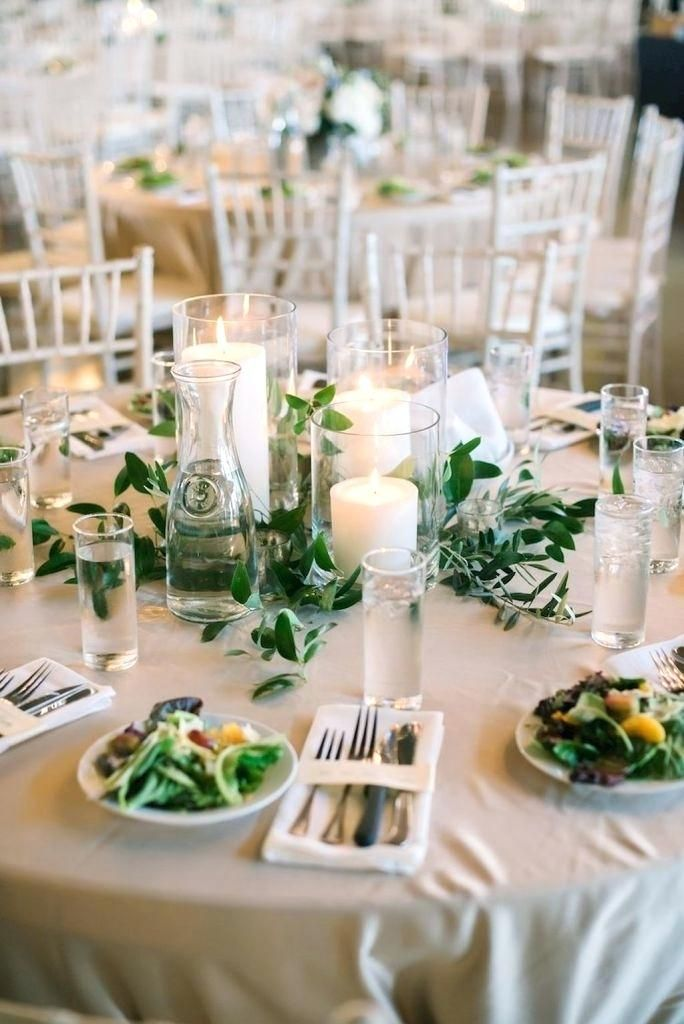 Simple Centerpieces For Rehearsal Dinner Simple Greenery Wedding