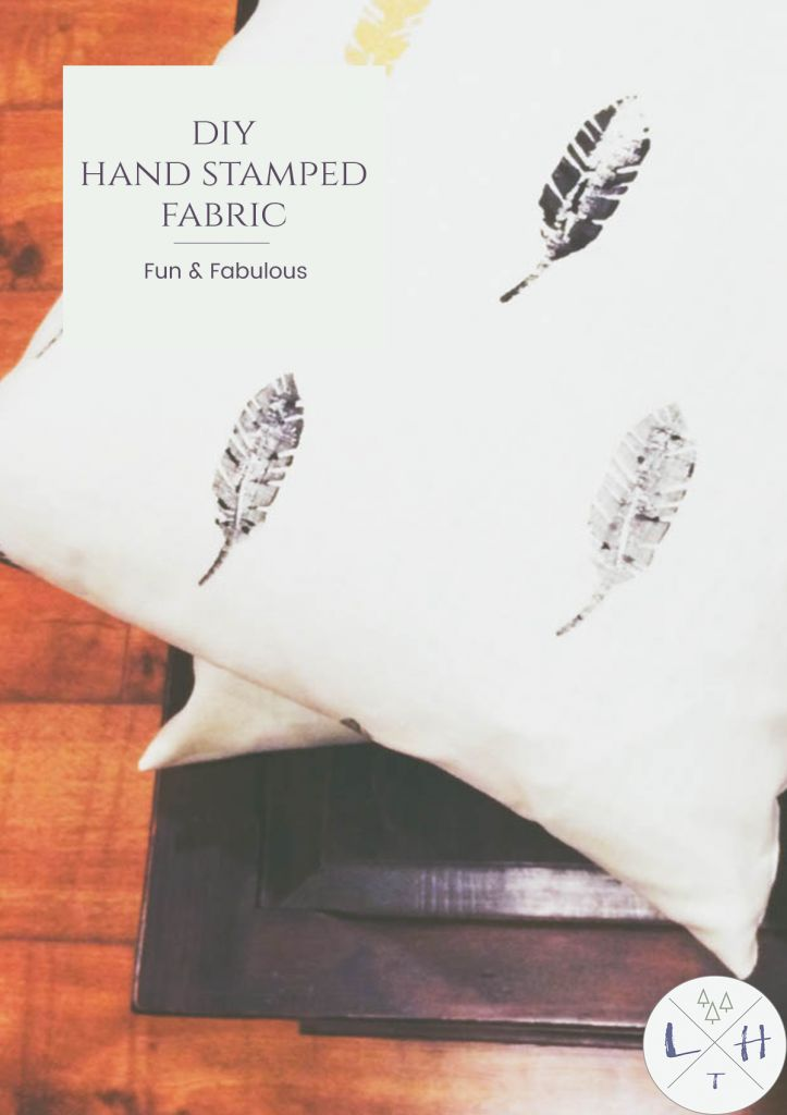 One of the best things about this project is how natural this Hand Stamped fabric looks finished! It is perfect for your fall look in your home.