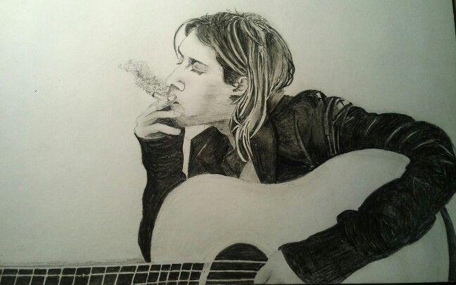 Kurt Cobain - draw, pencil