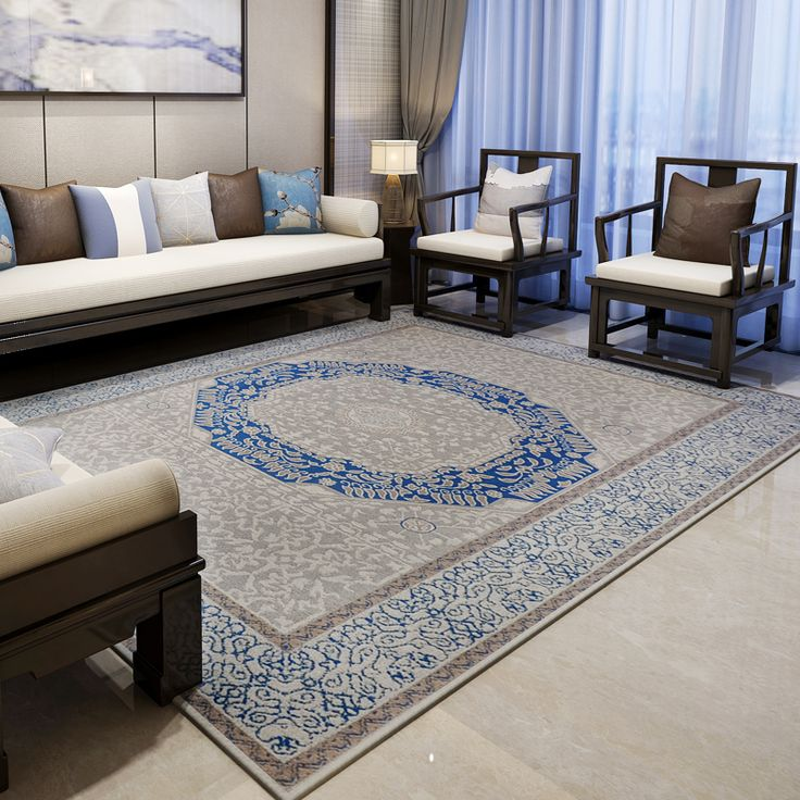 Mediterranean Rugs And Carpets For Home Living Room Europe Bedroom Floor Mat Study/Restaurant Area Rug Coffee Table Carpet