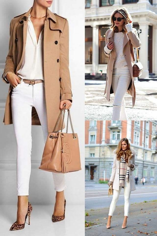 White and camel outfit | looks