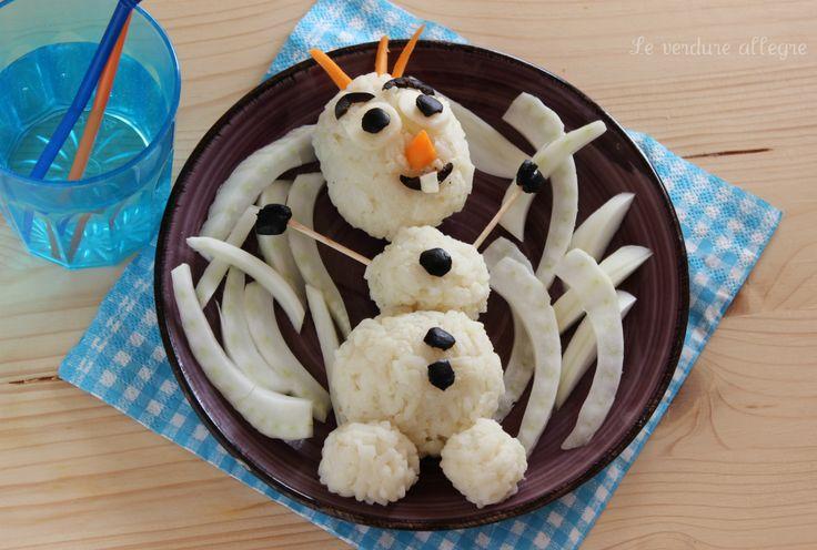 """Risotto al cavolfiore """"Olaf"""" di Frozen"""