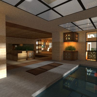 Minecraft interior ----- When I get my own house I think I'll do a minecraft theme..... <<< OH MY GOSH! That's awesome!