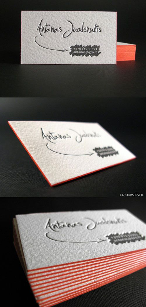 Personal Identity Card    Personal identity card with painted edge. Designed and printed by ELEGANTE PRESS on 500 gsm stock. Simply beautiful :)    By Elegante Press    For Antanas Juodsnukis