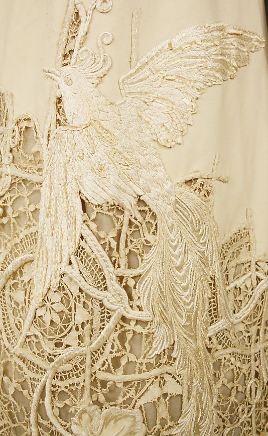 Embroidered silk dress from 1904