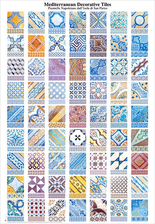 The mediterranean decorative tiles poster. $10.