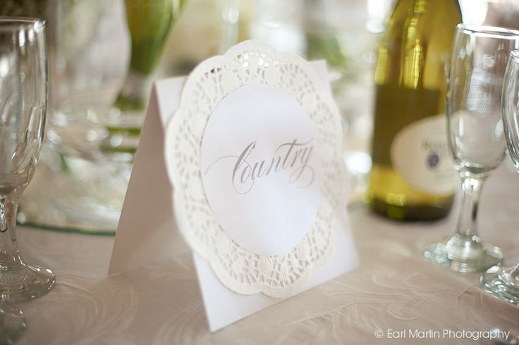 Table Name/number idea for weddings