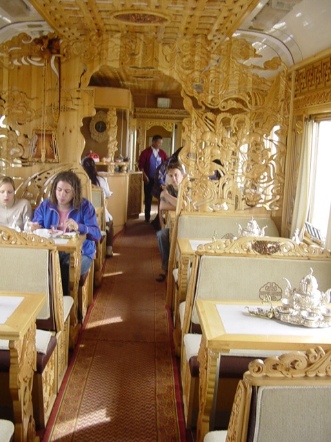 Dining car Trans Siberian Railway day 5                                                                                                                                                                                 Plus