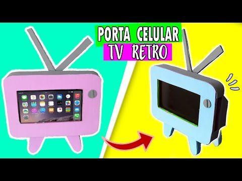 Porta celular TV RETRO Ɩ Haz un MINI TELEVISOR para tu CELULAR - YouTube