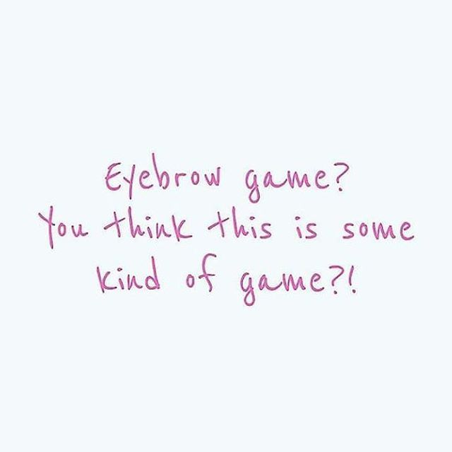 It's not a game!! 😂 Happy Wax Wednesday! Come get those eyebrows in shape with our Wednesday deals: Buy 1 waxing service and receive an additional for 5 bucks 🙌 . . . #kalonbykristin #waxing #eyebrowwax #lipwax #ygkbiz #ygk #ygklove #ygkesthetics #beautyblog #ygkesthetician #esthetics #esthetician #bikiniwax #legwax #chestwax #beauty #waxingservices #kingstonontario #kingston #downtownkingston #idwaxthat #beautyhumour #waxingpromo #jokes