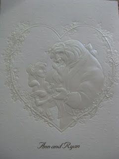 disney beauty and the beast wedding theme invitations